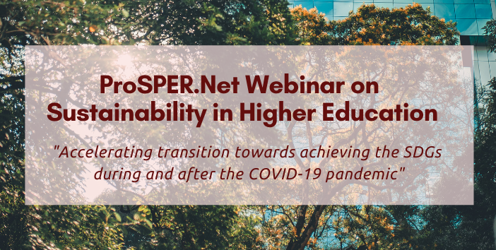 ProSPER.Net Webinar on Sustainability in Higher Education