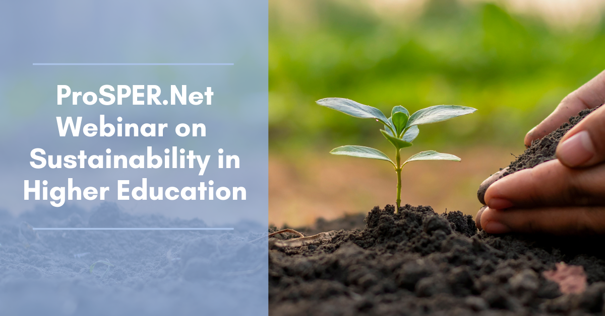 ProSPER.Net Webinar on Sustainability in Higher Education